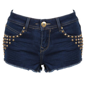 View Item Blue Denim Spiked Hotpants